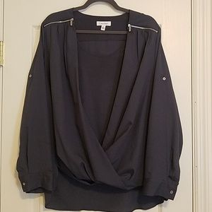 Calvin Klein blouse with zippers
